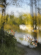 IMPRESSIONISTIC;LENS_CREATION;WATER;FLOWERS;BOATS;ABSTRACT;VERTICAL