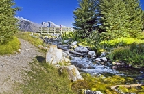 CANADA;ALBERTA;BANFF_NATIONAL_PARK;JOHNSON_LAKE;LAKE;WATER;STREAMS;CREEKS;ROCKS;