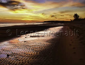 CANADA;NEW_BRUNSWICK;PARLEE_BEACH;BEACH;WATER;SAND;SUNRISE;DAWN;HORIZONTAL