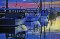 CANADA;PRINCE_EDWARD_ISLAND;PRINCE_COUNTY;LOBSTER_BOATS;BOATS;TRAPS;SUMMER;DUSK;